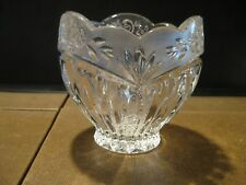 ONEIDA SOUTHERN GARDEN CRYSTAL POTPOURRI BOWL MADE IN GERMANY