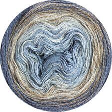 Wolle Kreativ! Lana Grossa Shades of Merino Cotton Fb.412 blau/pfirsisch... 200g