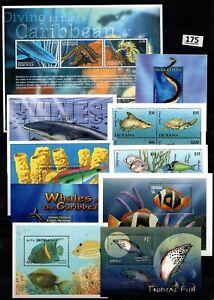 /// WHOLESALE - 10 S/S - MNH - FISH, MARINE LIFE, WHALES