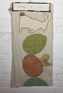 """Nicole Miller Home Easter Table Runner 16"""" x 72"""" Bunny and Eggs"""