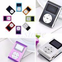 USB Mini Music Clip MP3 Player LCD Screen Support 16GB Micro SD TF Card