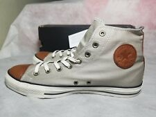 New Converse Leather Ct All Star Spec Hi Grey Brown White Canvas Shoe Men's 11