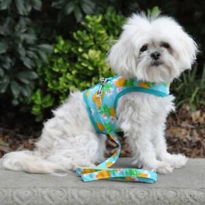 Pineapple Luau Fabric Dog Harness with Leash - XS-L