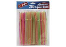 200 El Cuello Flexible Neon Pajitas