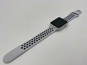 ✅✅ Apple Watch Series 1 42mm Silver Aluminum Case Nike White Sport Band 4 ✅✅