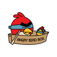 Angry Bird Box Sticker - Bird Box, Angry Birds, Netflix, Mobile Game, Glossy