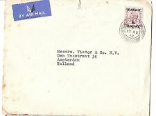 Kuwait 1952 KGVI 6A A/M cover to Holland (bah)