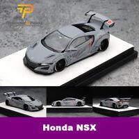 Timothy&Pierre 1:64 Scale Honda LBWK Honda Acura NSX Gray Car Model New in Box