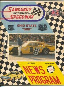 Sandusky International Speedway Auto Race Program 1975-race pix-info-points s...