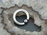 TITAN Piercing Ball Closure Ring Intimpiercing Brust Septum Lippe Ohrring 2,0MM