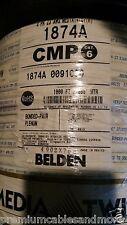 Belden 1874A 23/4P Bnd Pr Cat6+ MediaTwist Plenum Network Cable Teflon Wht /40ft