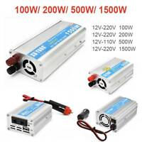 Portable Car Power Inverter WATT DC 12V to AC 220V Charger Converter W/ USB Port