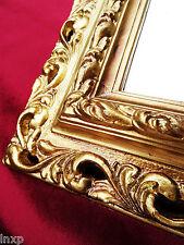 Wandspiegel 43x36 Spiegel BAROCK Rechteckig GOLD Bilderrahmen Arabesco 1