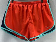 Nike XL Orange with Blue Under Short Hidden Pocket Dri-Fit Running Shorts