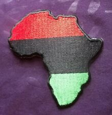 Pan-African Patch African Continent Embroidered Patch Africa Rasta Diy
