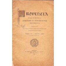 PROVINCIA HISTOIRE et ARCHEOLOGIE PROVENCALES 1er et 2è Trimest. T8 Marseille 19