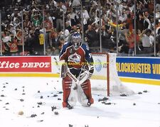 PATRICK ROY Surrounded by RATS 1996 CUP FINALS vs FLA 8x10 AVALANCHE WIN CUP !!