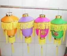 8 New Chinese Palace Lanterns with Tassels Mixed Colour