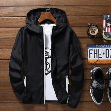 Men's Waterproof Windbreaker Zipper Jacket Hoodie Light Sports Outwear Coat BF