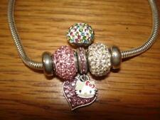 KAY JEWELERS CHARMED MEMORIES HELLO KITTY SWAROVSKI STERLING SILVER BRACELET NW