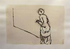 SURPRISE on the STREET CORNER ink drawing original art funny humorous sexy joke