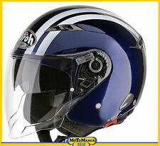 CASCO JET AIROH CITY ONE VISIERA LUNGA E OCCHIALI A SCOMPARSA  BLUE DARK TG XS