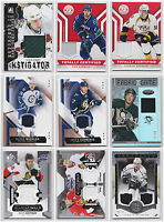 NHL Game Used Jersey Cards Choose From List SP Game Used Artifacts Certified