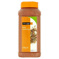 Fajita Seasoning |Quality Mexican Spice Mix 670g | Tub with 2 lids | Chef Larder
