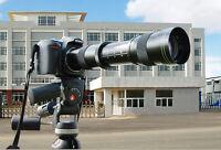 420-800mm f/8.3-16 Manual Focus Telephoto Zoom Lens For Nikon DSLR + Lens Caps