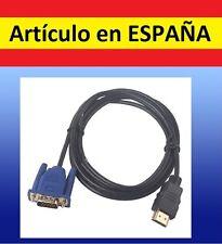 Cable adaptador VGA macho HDMI macho salida tele RCA tv ordenador pc HDTV AV
