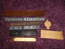 Name badges etc spare parts wooden model ships HMS Bounty Beagle Cutty Sark 1869