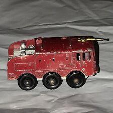 Matchbox #63 Foamite Crash Tender Vintage 1964 Lesney RED Made In England F5