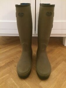 Le Chameau Vierzonords Ladies Neoprene Lined Wellingtons Boots, Size 7 Eur 40