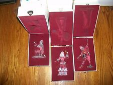 1999-2000-2001 Swarovski Crystal Masquerade Colombine-Harlequin-Pierrot Figurne