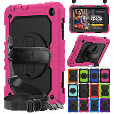 For Amazon Fire HD 8 /8 Plus 10th Gen Shockproof Hybrid Stand Case with Strap