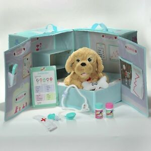 My Pet Vet Max the Dog Interactive Plush Soft Toy With Carry Case & Accessories