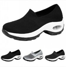Gym Breathable Slip On Mesh Sports Shoes Womens Outdoor Walking Sneakers 35/40 B