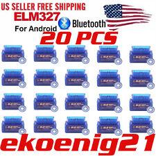 US Mini Bluetooth OBD2 Android Torque OBDII ELM327 v2.1 Adapter Auto Scanner EJJ