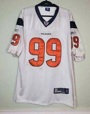 Houston Texans J.J.  Watt 99 On Field White Authentic Reebok Jersey Size 52