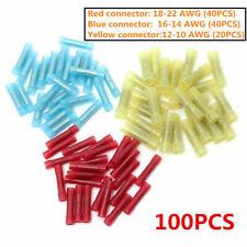 100pcs 22-10 AWG Heat Shrink Butt Connectors Electrical Wire Crimp Terminals Kit