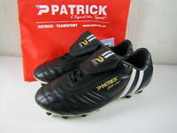 Patrick Gold Cup Soccer Cleats NIB Black White Kids / Youth Size EU 36 US 4