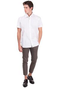 GIAMPAOLO Shirt Size 43 / 17 / XL Round Hem Spread Collar Short Sleeve