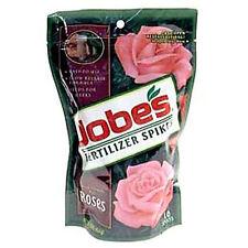 NEW! Jobe's Fertilizer Spikes for Abundant Roses Plant Food 10 units