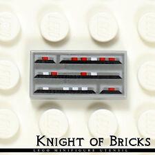 Lego Minifigure LIGHT GRAY Star Wars Computer CPU Printed Flat Tile 1x2