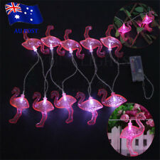 3D Tropical Pink Flamingos Party Plastic String Light Battery Operated MN