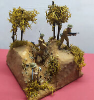 Diorama soldatini in azione Inglesi plastic model toy soldiers base miniatures