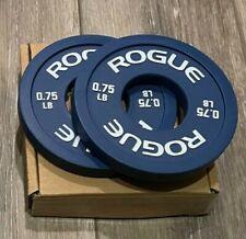 Brand New Rogue Fractional Plates .75 Lb Olympic Pair