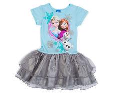 Disney Frozen Girls' Princess Dress - Blue/Grey