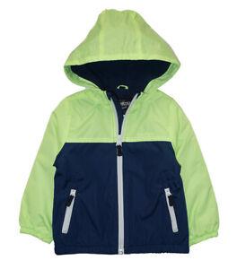 Osh Kosh B'gosh Boys Bright Yellow Fleece Lined Jacket Size 2T 3T 4T 4 5/6 7