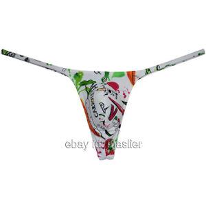Men's G-string Hipster Tangas Posing Micro Bikini Thong Underwear XL Vegetables